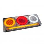 Luz reversera Triple con barra 37 X 15.3 X 3.2 Cm 117 Leds   12V Ambar-Rojo-Blanco