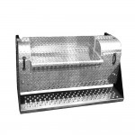 45 Inch Diamond Plate Center Step Battery Box Fits Kenworth
