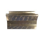 34 Inch Diamond Plate Aluminum Battery Box Cover Fits Kenworth T800 & Curved Glass New Style