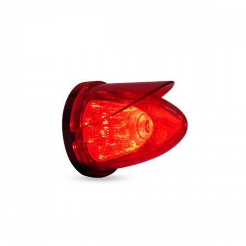 LAMPARA LATERAL MISIL 10.4 X 8.9 CM 14V ROJO VISERA ROJO