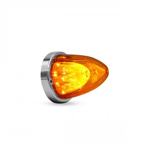 LAMPARA LATERAL MISIL 10.4 X 8.9 CM 24V AMBAR