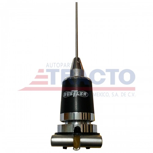 ANTENA CB CHICOTERA HUSTLE DE ACERO INOXIDABLE