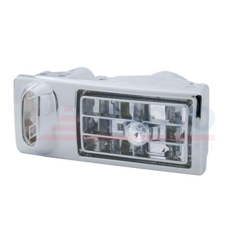 Ventila para aire con diamante transparente, cromada, aplicación KW 2002-2005