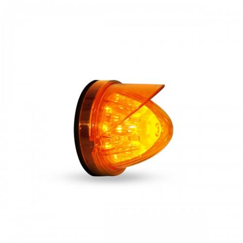 LAMPARA LATERAL MISIL 7.2 X 8.9 CM 24V AMBAR VISERA AMBAR