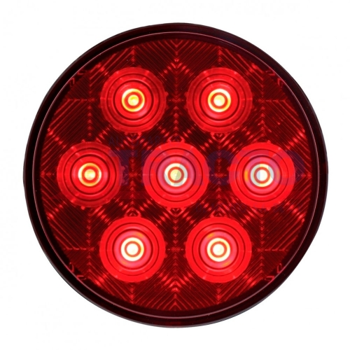 "7 LED 4 ""de la Serie de Competencia Stop, Turn & Tail Light - LED Rojo / Lente Roja"