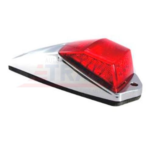 Zepellin para Cabina 20 X 7 X 4.9 Cm 20 Leds   2 Cts 12 V Rojo Base Abs Cromado