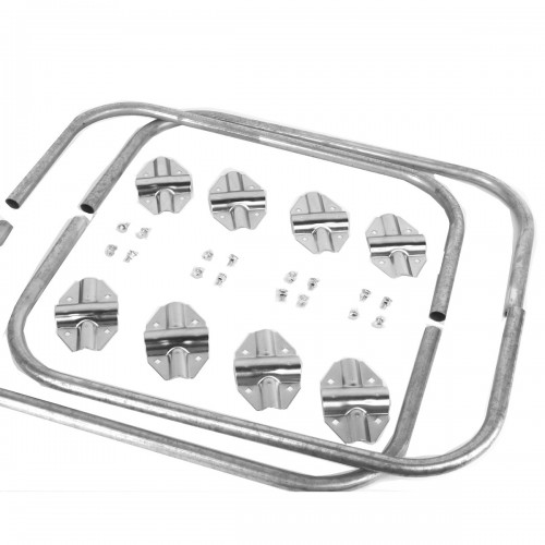 Anillo para barra estibadora galvanizada y aluminio